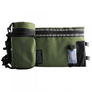 Olive Green Tefillin Protector with Tallit bag