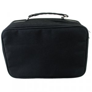 Fabric Tefillin and Tallit Carrier Bag Briefcase, Thermal Insulated - Black