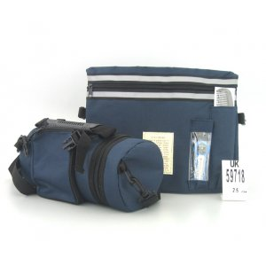 Thermal Dark Blue Tefillin Protector with Tallit bag