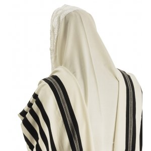 Malchut Non Slip Tallit Wool Prayer Shawl by Talitnia