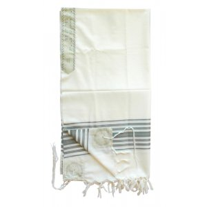 Chermonit Wool Tallit Prayer Shawl by Talitnia