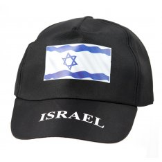 Black Baseball Cap with Israeli Flag Decoration
