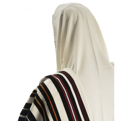 Joseph Coat Tallit Prayer Shawl - Rainbow Colors by Talitnia